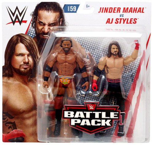 WWE Wrestling Battle Pack Series 59 AJ Styles & Jinder Mahal Action Figure 2-Pack