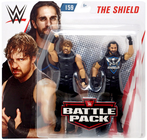 WWE Wrestling Battle Pack Series 59 Dean Ambrose & Seth Rollins Action Figure 2-Pack [Shield]