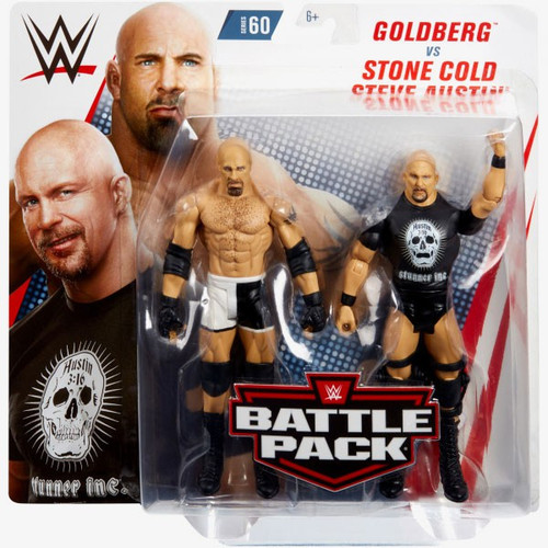 WWE Wrestling Battle Pack Series 60 Goldberg & Stone Cold Steve Austin Action Figure 2-Pack