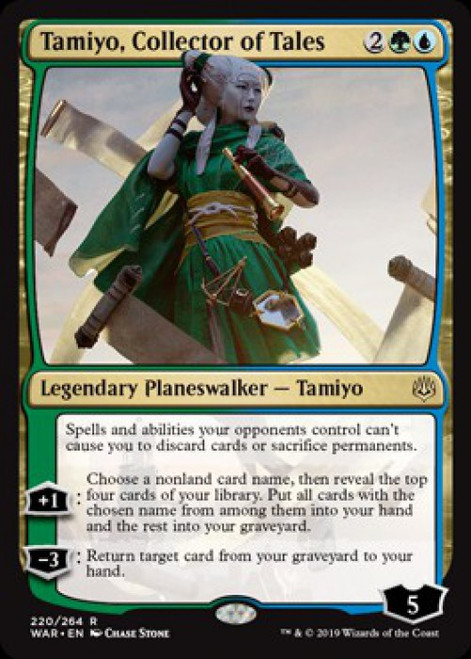 MtG War of the Spark Rare Foil Tamiyo, Collector of Tales #220