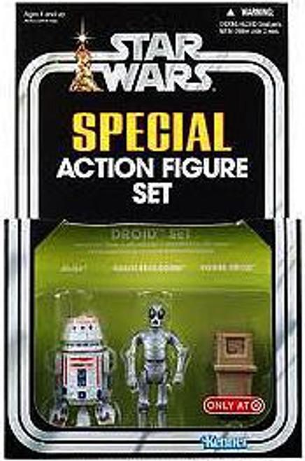 Star Wars A New Hope Vintage Special Droid Set Exclusive Action Figure Set [R5-D4, Death Star Droid, Power Droid]