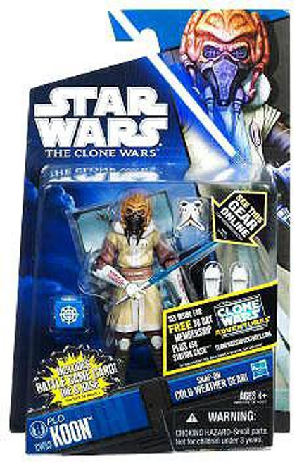 Star Wars The Clone Wars 2011 Plo Koon Action Figure CW53 [Cold Weather Gear]