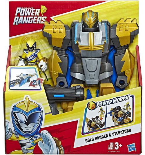 Power Rangers Gold Ranger & Pterazord Action Figure
