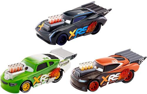 Disney / Pixar Cars Drag Racing Jackson Storm, Nitroade & Brick Yardley Die Cast Car 3-Pack [Hassle Free Packaging]