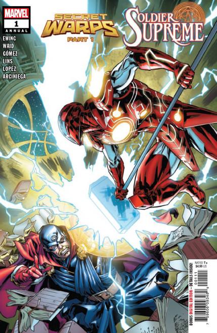 Marvel Comics Secret Warps Soldier Supreme Annual #1 Comic Book