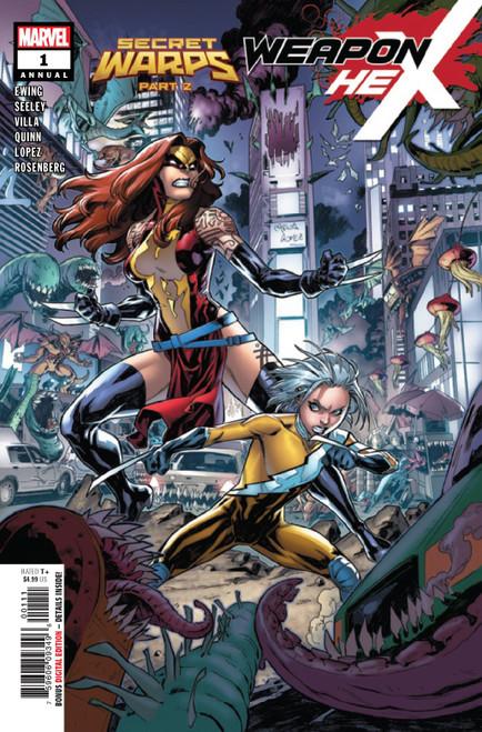 Marvel Comics Secret Warps Weapon Hex Annual #1 Comic Book