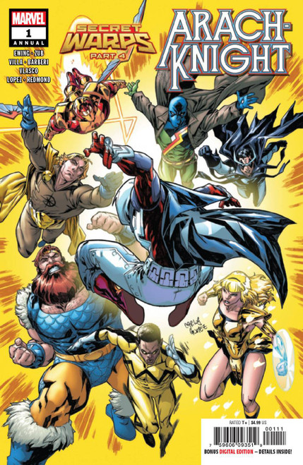 Marvel Comics Secret Warps Arachknight Annual #1 Comic Book