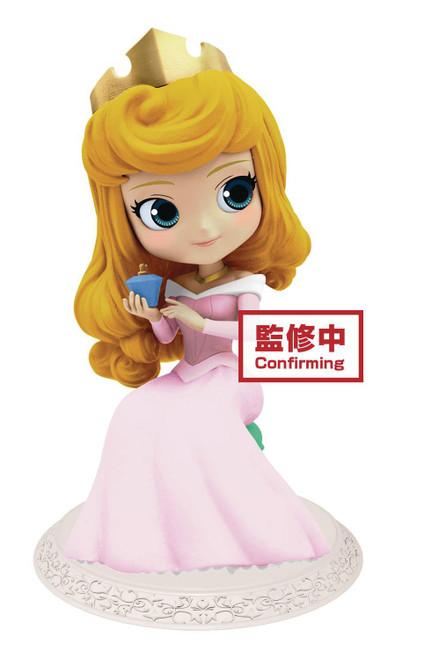 Disney Sleeping Beauty Q Posket Aurora 5.5-Inch Collectible PVC Figure [Light Dress]