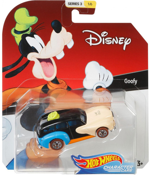 Disney Hot Wheels Character Cars Series 3 Goofy Die Cast Car #1/6