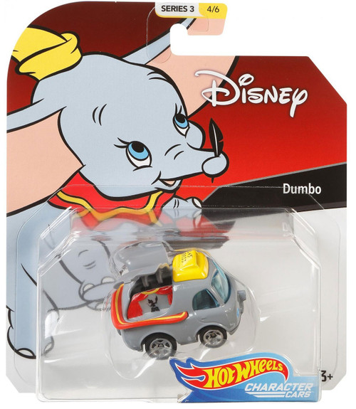 Disney Hot Wheels Character Cars Series 3 Dumbo Die Cast Car #4/6
