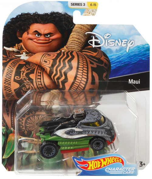 Disney Hot Wheels Character Cars Series 3 Maui Die Cast Car #6/6