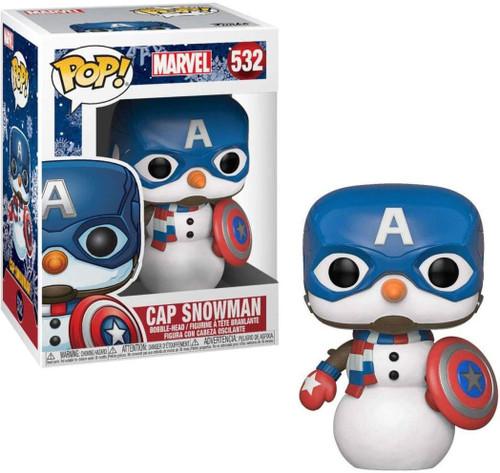 Funko POP! Marvel Cap Snowman Vinyl Bobble Head #532 [Holiday]