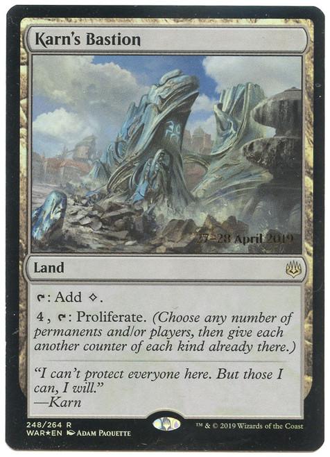 MtG Prerelease & Release Rare Karn's Bastion #248 [Prerelease Foil]
