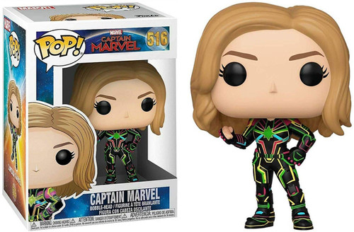 Funko POP! Marvel Captain Marvel Vinyl Bobble Head [Neon Suit]