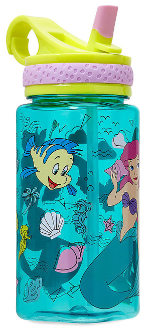 Disney The Little Mermaid Ariel Water Bottle with Straw