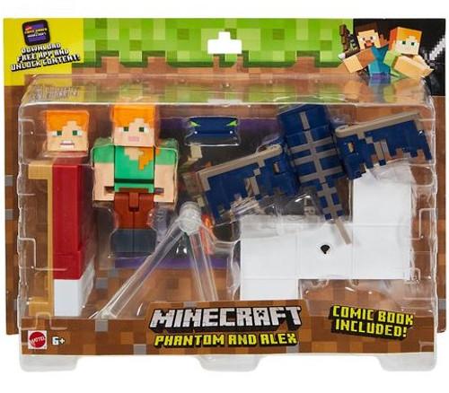 Minecraft Comic Maker Phantom & Alex Action Figure 3-Pack