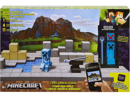Minecraft Comic Maker Studio Playset [Exclusive Charged Creeper Figure!]