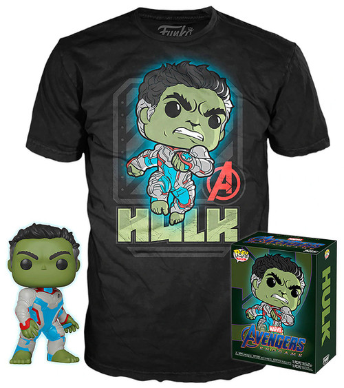 Funko Avengers Endgame POP! Marvel Hulk Exclusive Vinyl Figure & T-Shirt [Large]