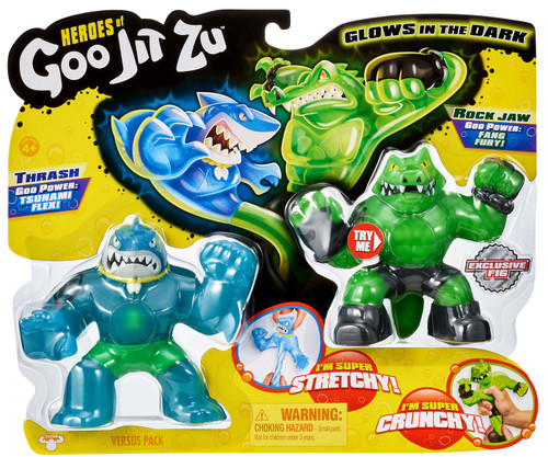 Heroes of Goo Jit Zu Thrash vs Rock Jaw Action Figure 2-Pack