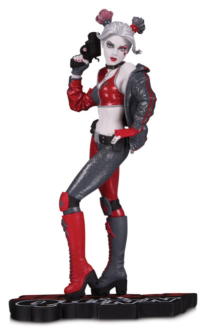Batman Harley Quinn Red, White & Black Harley Quinn 7.6-Inch Statue [Joshua Middleton]