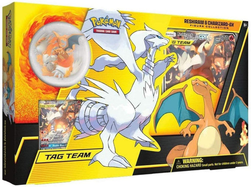 Pokemon Trading Card Game Tag Team Reshiram & Charizard-GX Figure Collection [4 Booster Packs, Promo Card, Oversize Card & Figure]