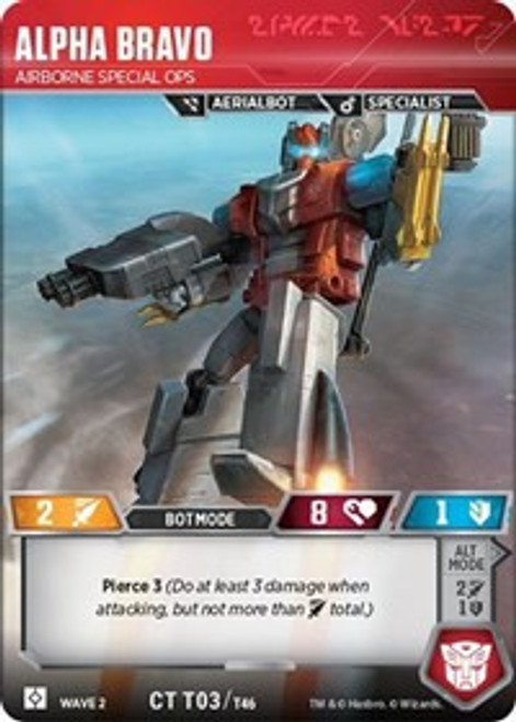 Transformers Trading Card Game Rise of the Combiners Common Alpha Bravo - Airborne Special Ops T03