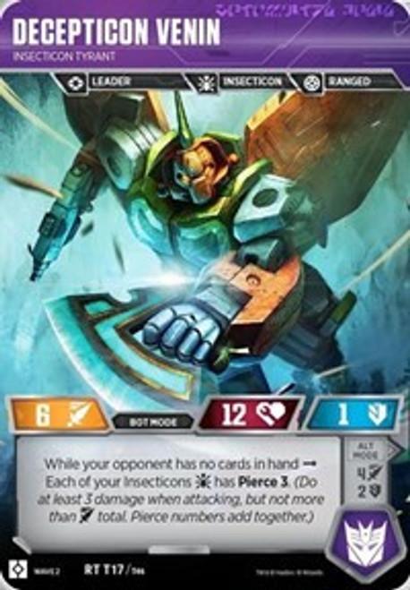 Transformers Trading Card Game Rise of the Combiners Rare Decepticon Venin - Insecticon Tyrant T17