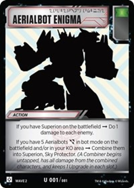 Transformers Trading Card Game Rise of the Combiners Uncommon Aerialbot Enigma #001