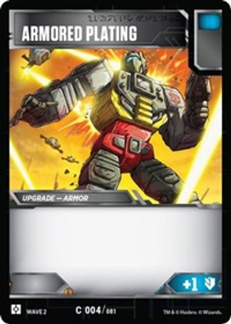 Transformers Trading Card Game Rise of the Combiners Common Armored Plating #004