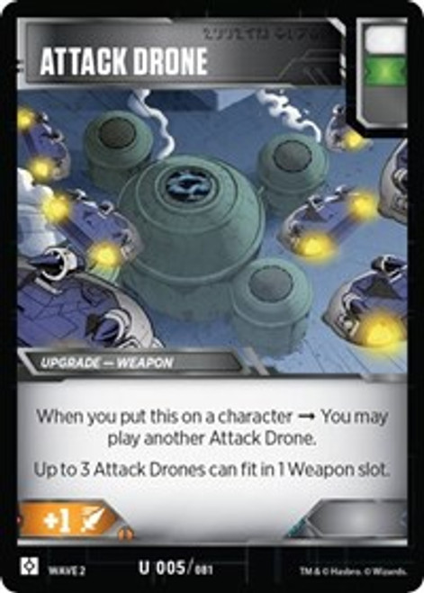 Transformers Trading Card Game Rise of the Combiners Uncommon Attack Drone #005