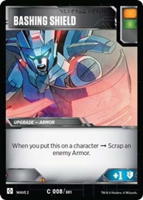 Transformers Trading Card Game Rise of the Combiners Common Bashing Shield #008