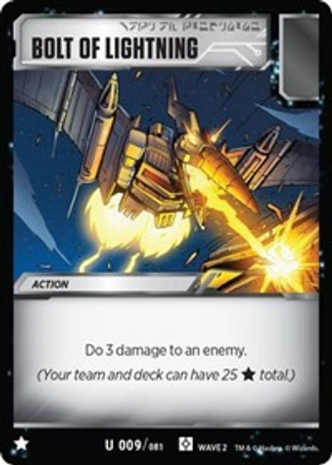 Transformers Trading Card Game Rise of the Combiners Uncommon Bolt of Lightning #009