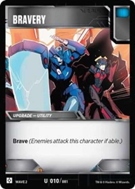 Transformers Trading Card Game Rise of the Combiners Uncommon Bravery #010