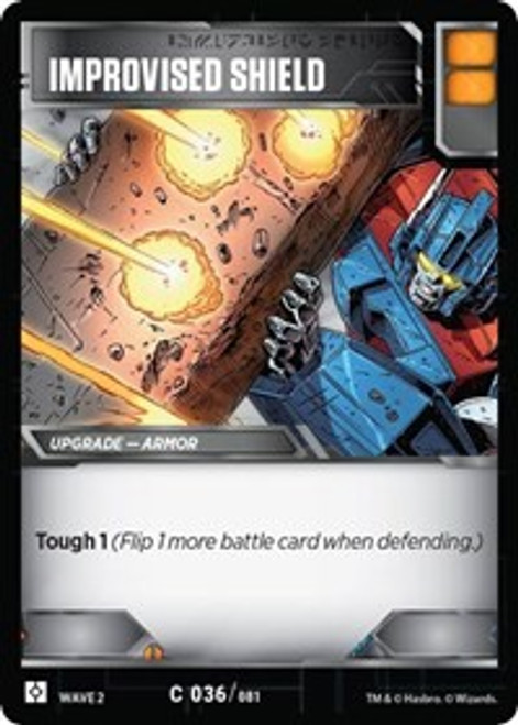 Transformers Trading Card Game Rise of the Combiners Common Improvised Shield #036