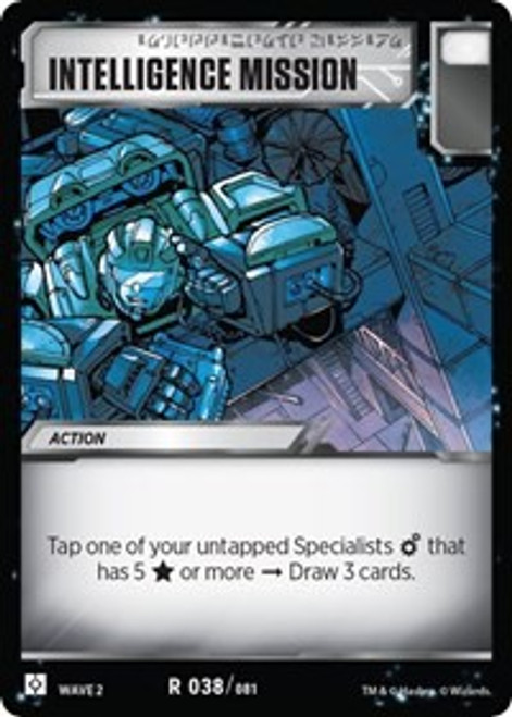 Transformers Trading Card Game Rise of the Combiners Rare Intelligence Mission #038