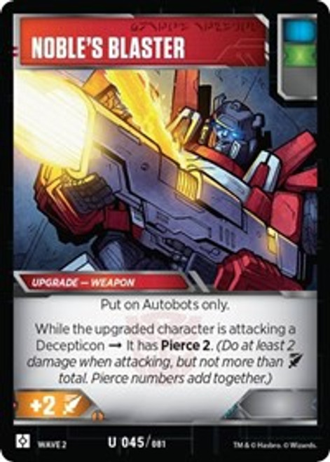 Transformers Trading Card Game Rise of the Combiners Uncommon Noble's Blaster #045