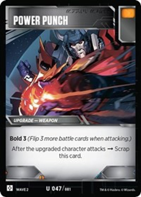Transformers Trading Card Game Rise of the Combiners Uncommon Power Punch #047