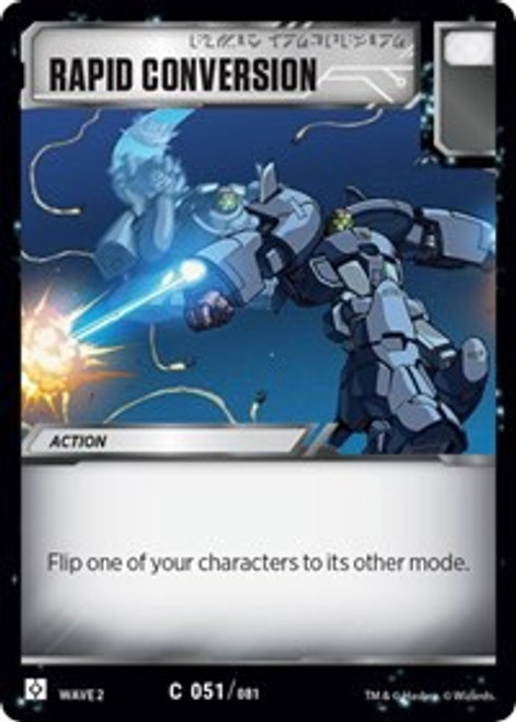 Transformers Trading Card Game Rise of the Combiners Common Rapid Conversion #051
