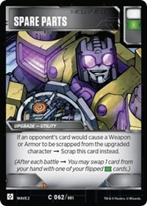 Transformers Trading Card Game Rise of the Combiners Uncommon Spare Parts #062