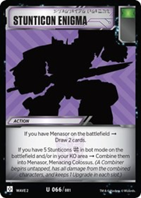 Transformers Trading Card Game Rise of the Combiners Uncommon Stunticon Enigma #066