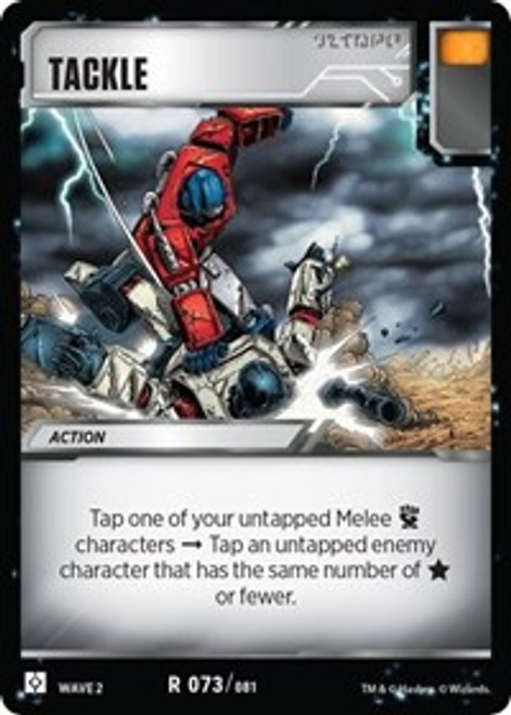 Transformers Trading Card Game Rise of the Combiners Rare Tackle #073