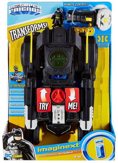 Fisher Price DC Super Friends Imaginext Transforming Batmobile 3-Inch R/C Vehicle