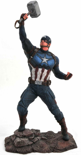 Avengers Endgame Marvel Gallery Captain America 9-Inch Collectible PVC Statue [Wielding Mjolnir]