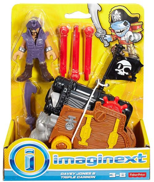 Fisher Price Imaginext Davey Jones & Triple Cannon Figure Set