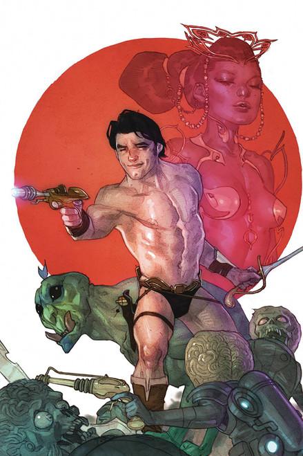 Dynamite Entertainment Warlord Of Mars Attacks #1 Comic Book [Ben Caldwell Virgin Variant Cover]