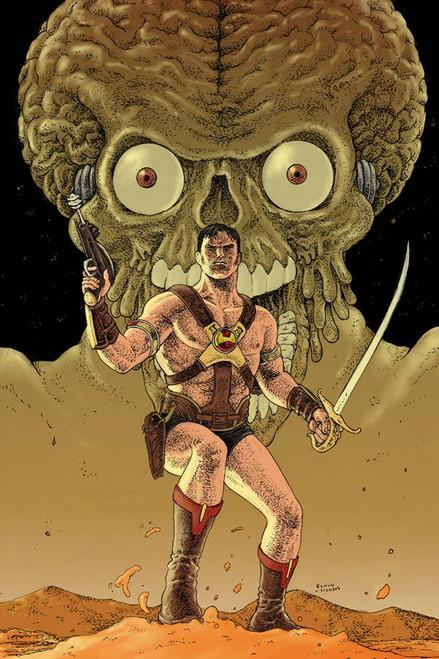 Dynamite Entertainment Warlord Of Mars Attacks #1 Comic Book [Ramon Villalobos Virgin Variant Cover]