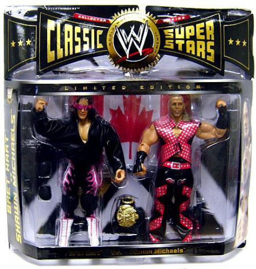 WWE Wrestling Classic Superstars Bret Hart & Shawn Michaels Exclusive Action Figure 2-Pack