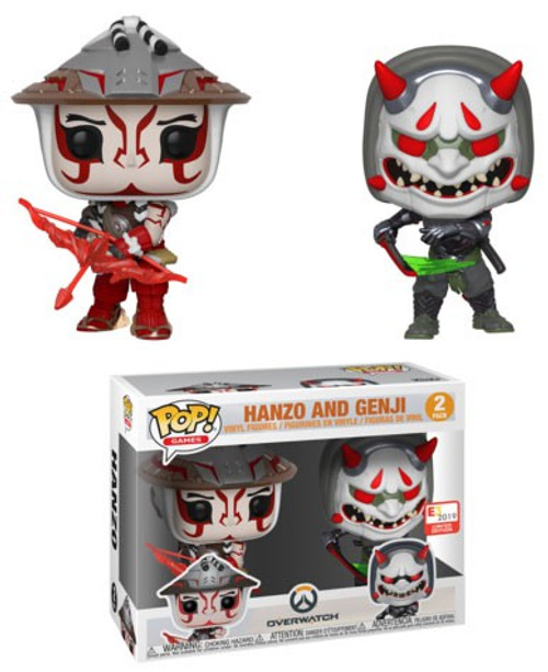 Funko Overwatch POP! Games Hanzo & Genji Exclusive Vinyl Figure 2-Pack