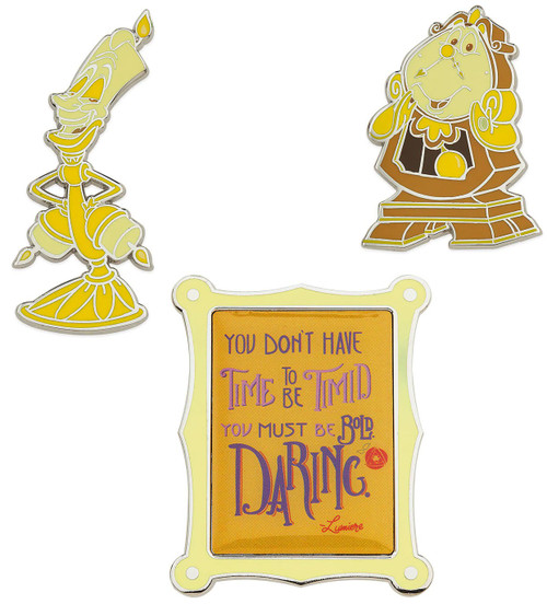 Disney Wisdom Beauty and the Beast Exclusive Pin Set