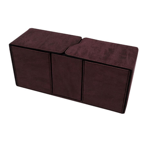 Ultra Pro Alcove Vault Suede Collection Ruby Flip Box